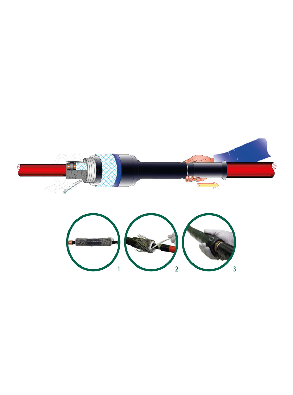 Cold Shrinkable Cable Joint